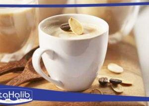 مشروب قهوة باللوز
